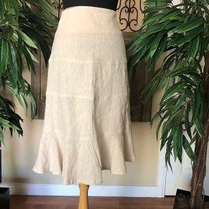 Willi smith 100% Linen skirt